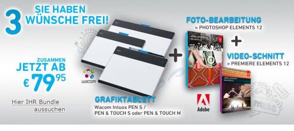 edv-buchversand / ab 82,90€ / Grafiktablet mit Photoshop Elements 12 und Primere Elements 12 im Set / 3 Tablets zur Auswahl