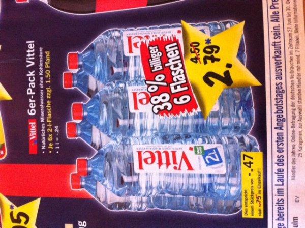 Vittel 6er-Pack / 6x 2 Liter  für 2,79€ @ LIDL