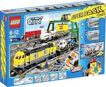 LEGO Güterzug Superpack 66405 (7939+7937+7895+7499) + Extra-Schienen @ amazon.fr
