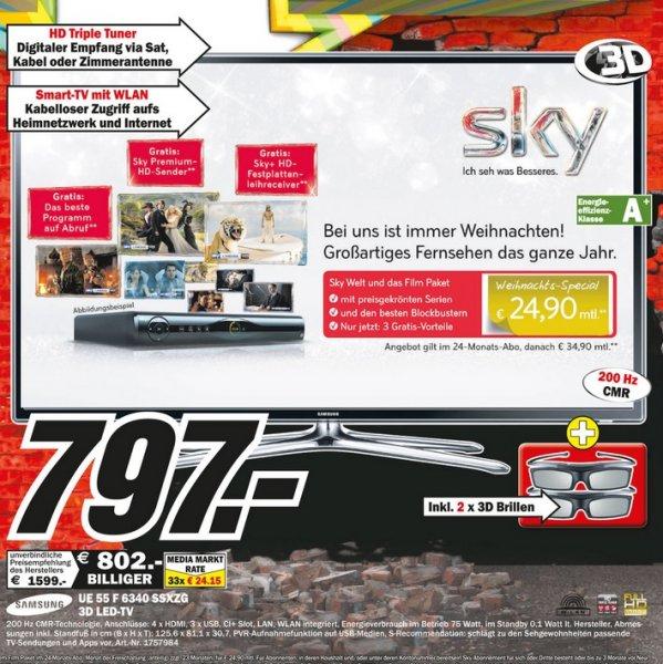 Samsung UE55F6340 für 797€ [Mediamarkt Mönchengladbach] LOKAL