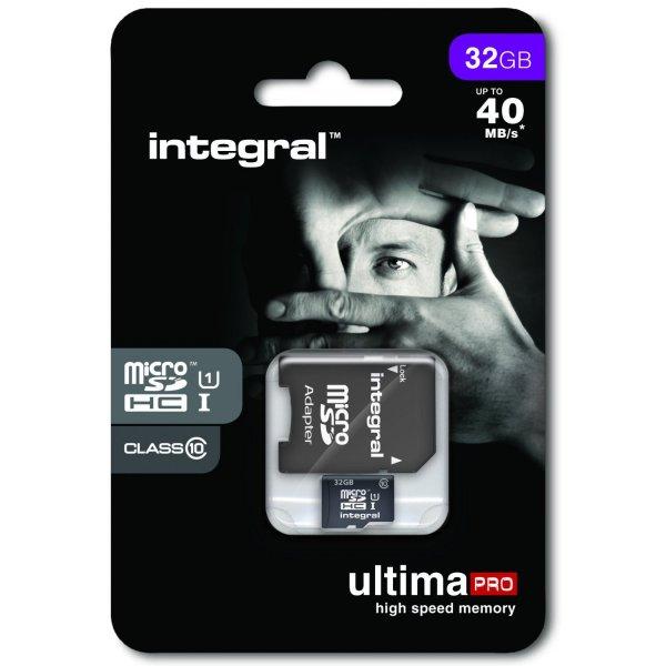 32GB UltimaPro microSDHC 40MB Class 10 für 17,72 Euro