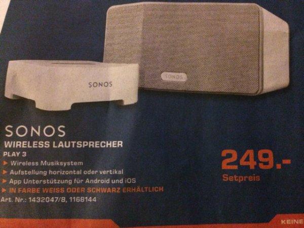 [Saturn Bremen-Habenhausen] Sonos Play:3 inkl. Bridge