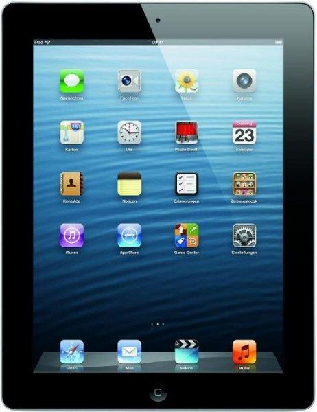 ipad 4 16GB only Wifi schwarz refurbished für 314,10 Euro !