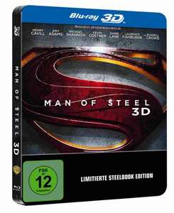 Man of Steel 3D Steelbook [Limited Edition] nur heute für 25,97 € @Amazon.de