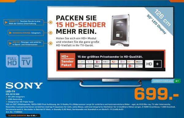 Sony KDL-50W656 für 699€ [Saturn Düsseldorf] LOKAL