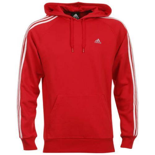 Adidas Essentials 3S Hoody - Red @Zavvi