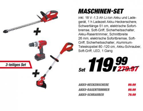 Toom Baumarkt - Elektro Garten Geräte (Akku) 119,99 EUR statt 279,97