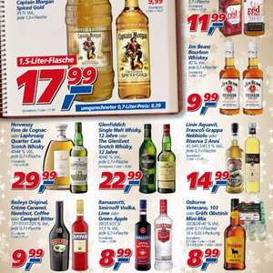 [REAL] Smirnoff 0,7l 8,90€, Jim Beam 0,7l 9,99€, Captain Morgan 1,5l 17,99€