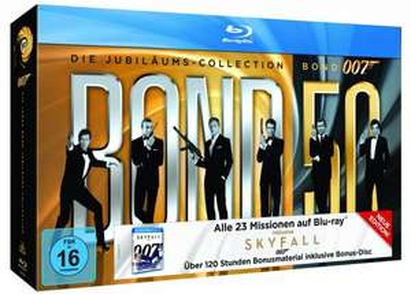 Bond – Jubiläums Collection inkl. Skyfall (24 Discs) 99€ @Mediamarkt Adventskalender
