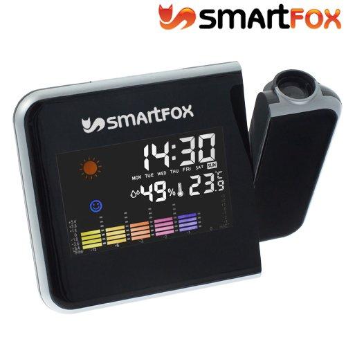 Smartfox Wecker mit Uhrzeit-Projektion Thermometer Wetterstation Farbdisplay @ebay  9,99€
