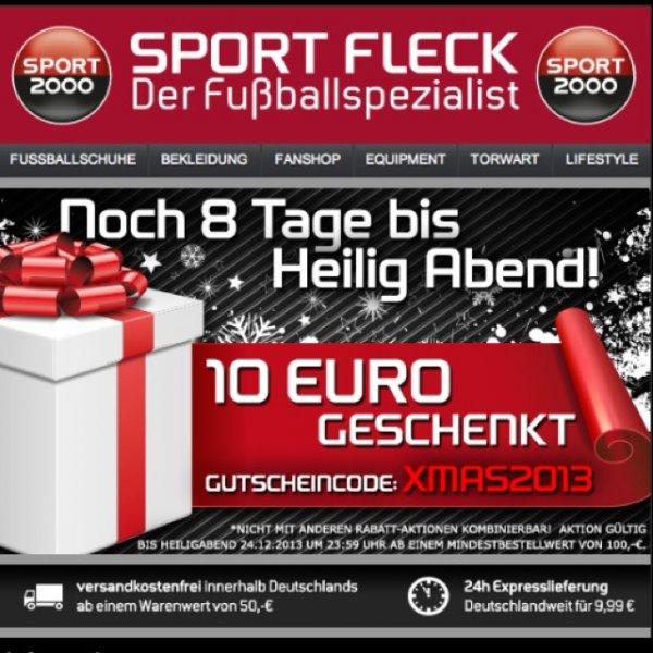 10 Euro Gutschein bei Sport-Fleck