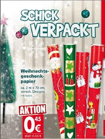 [Mäc Geiz] Weihnachts-Geschenkpapier