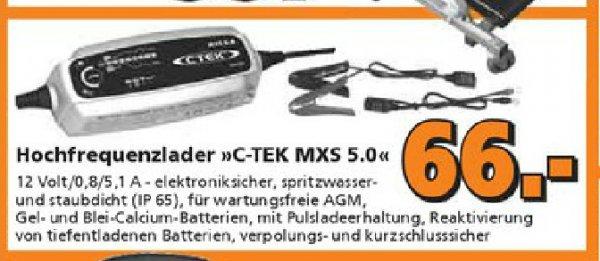 Batterie-Ladegerät CTEK MXS 5.0T beim Globus Baumarkt Isserstedt/Thüringen für 66,- Euro