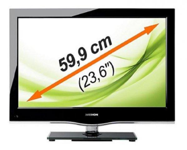 """LED-Backlight-TV MEDION  - FULL HD - und integrierter DVD Player - 23,6"""" bei Plus Online für 154 €"""