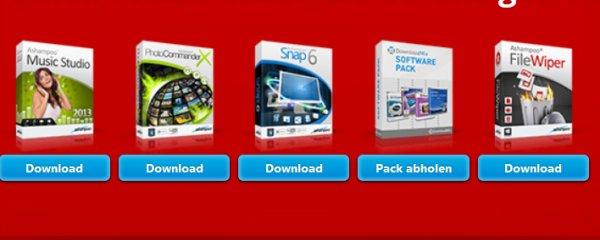 Ashampoo Vollversionen:  Snap 6, Music Studio 2013/v4.1,...