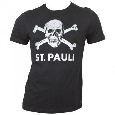 FC St. Pauli - T-Shirt Totenkopf Schwarz-Silber - schwarz
