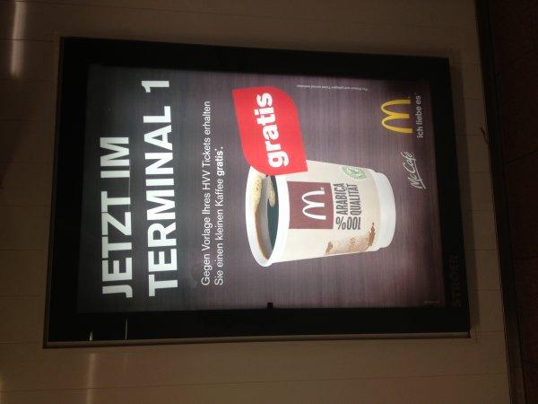 [Lokal HH]  McDonalds am Flughafen: Kaffee gratis für HVV-Fahrkarteninhaber