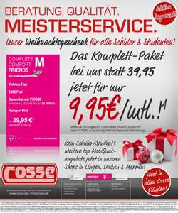 Telekom Complete Comfort M Friends - 9,95€ (Telefonflat, SMS-Flat, 750MB LTE, Hotspot-Flat) SIM only