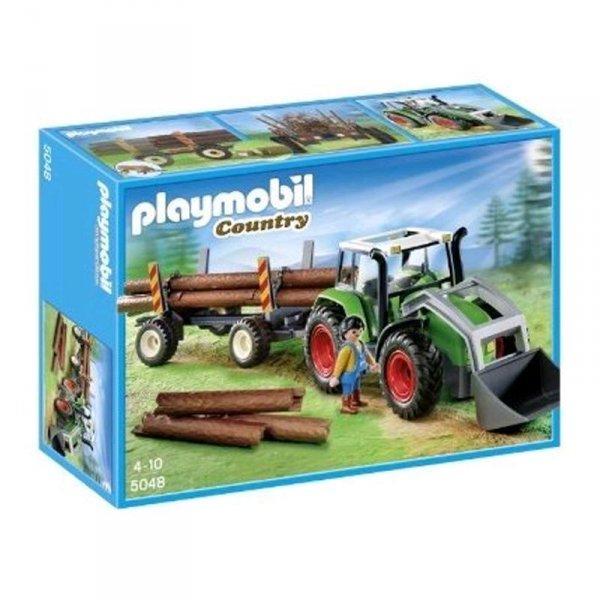 PLAYMOBIL Traktor mit Langholztransport 5048