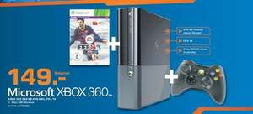 [Lokal Saturn Hamburg] Xbox 360 250 GB + Fifa 14 + Controller für 149,00 Euro