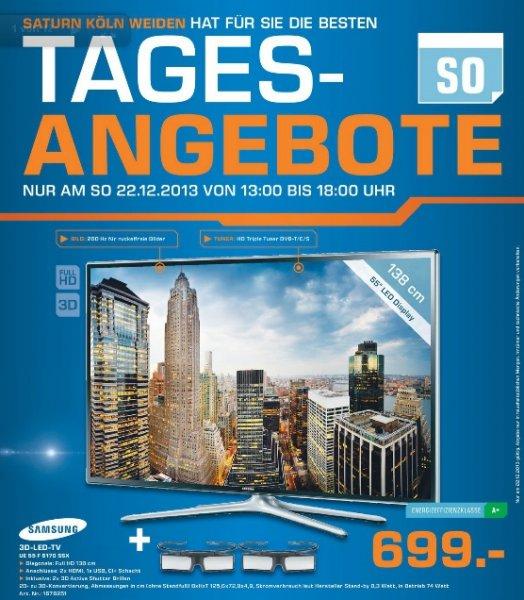 Samsung UE55F6170 138 cm 699€ Lokal Tagesangebote! 22.12 [Saturn Köln Weiden]