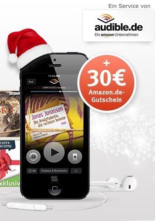 3 Monate Audible für 15€ + 30€ Amazon Gutschein @Web.de Club