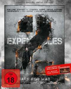 "[Media Markt Online] Bluray: The Expendables 2 Limited Special Uncut Edition inkl. Banner ""Last Supper"""