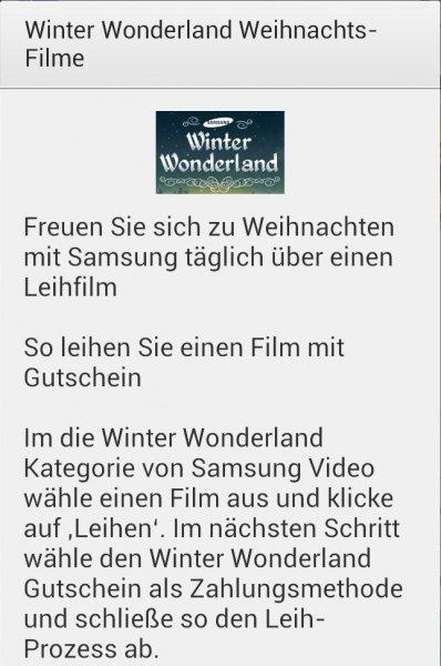 Update [Samsung Video Hub] Winter Wonderland: täglich 1 Film kostenlos leihen bis Weihnachten