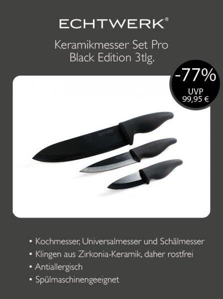 Echtwerk Keramikmesser Set Pro Black Edition 3tlg. Messerset @ebay 22€