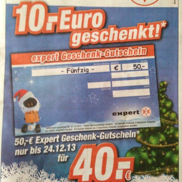 Expert 50€-Gutschein für 40€