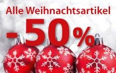 Alle Weihnachtsartikel 50% reduziert bei Thomas Philipps [bundesweit in den Filialen]