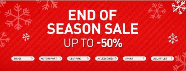 PUMA - End of Season Sale - Bis zu -50% Rabatt