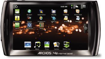 ARCHOS 48 Internet Tablet 500 GB mit 4.8 Zoll Touchscreen-Display ab 180 Euro