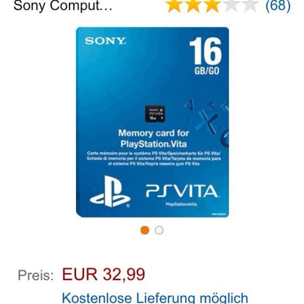 Ps Vita 16 GB Speicherkarte @amazon
