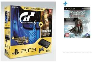 (PS3) Super Slim 500GB + The Last of Us + Gran Turismo 6 + AC4 Black Flag für 242,39€ @game.co.uk