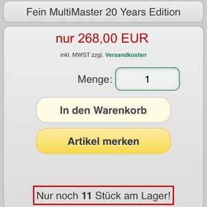 Fein Multimaster 20 Years Edition mit Sägeblattzugabe