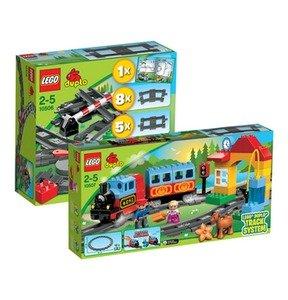 LEGO DUPLO Set Eisenbahn 10507 und Zubehör Set 10506 + Polartiere 10501 Gratis