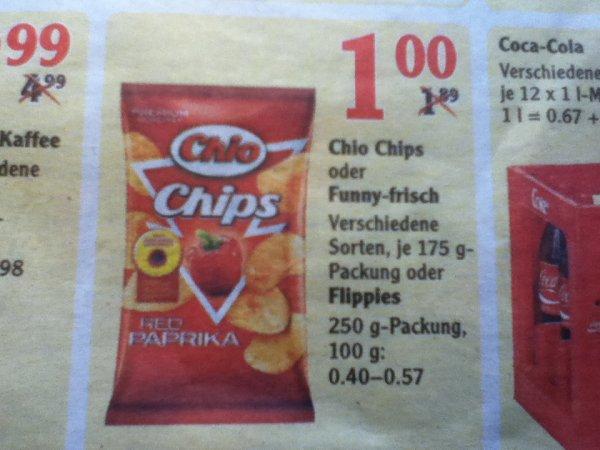 [Lokal Globus Lahnstein] Funny-frisch/Chio Chips 175g für 1,-€