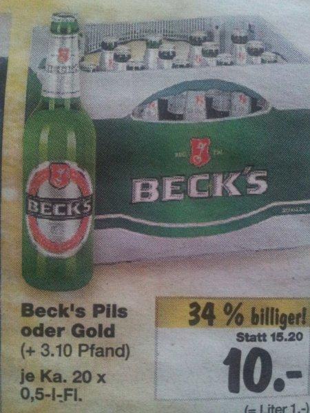 Beck Pils oder Gold