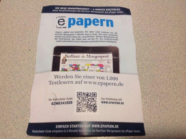 6 Monate Berliner Morgenpost per Download gratis lesen....