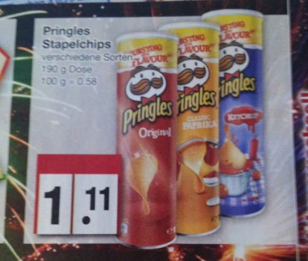 [Edeka wahrscheinlich Bundesweit ] Pringles 190g 1,11€ verschiedene Sorten