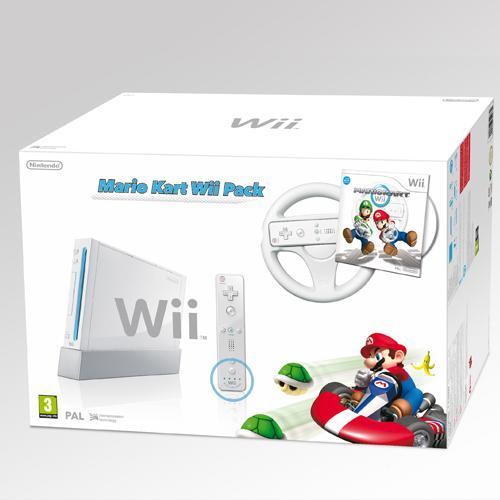 Wii Konsole (weiß) mit Mario Kart und Lenkrad + Wii Remote Plus Controller für ca. 119,39€ @ Amazon.UK