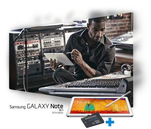 Kostenlose 32GB microSD beim Kauf eines Samsung Galaxy Note 10.1 2014 zwischen dem 09.12.2013 und 11.01.2014