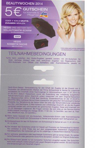5 Euro Gutschein für den Kauf von 3 Schwarzkopf & Henkel Produkten für mind. 5 Euro