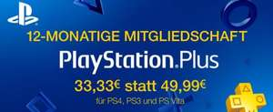 12 Monate Playstation Plus für 33,33 statt 49,99 Euro (Amazon.de Winter Deals)