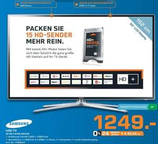 Samsung UE60F6100 für 1249€ Lokal [Saturn Marl Vest]