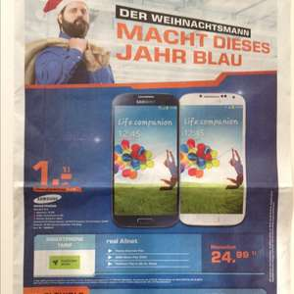 real Allnet Flat + Samsung Galaxy S 4 *lokal in Pforzheim*