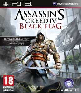 CALL OF DUTY GHOSTS PS3 und ASSASSIN'S CREED IV BLACK FLAG (AC4) PS3 als Download für ca. 30 Euro