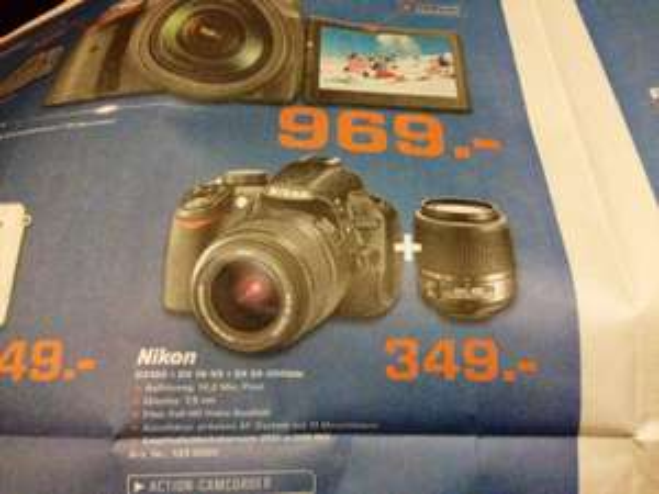 (Lokal Hamm) Nikon D3100 + DX 18-55 + DX 55-200