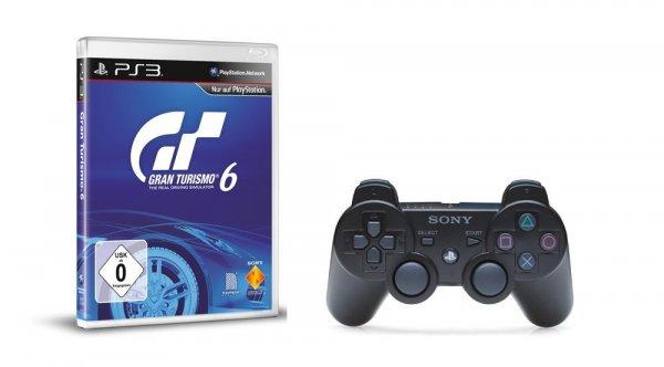 Amazon.de Blitzangebot: PS3 Gran Turismo 6 + Dualshock 3 Controller für 69€